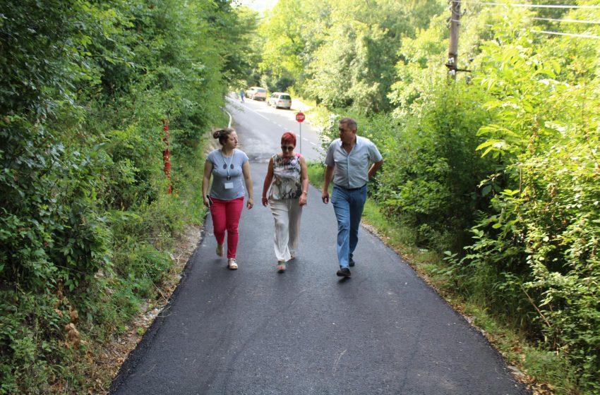 Кметът на Тетевен направи оглед на част от новоасфалтираните улици в общината