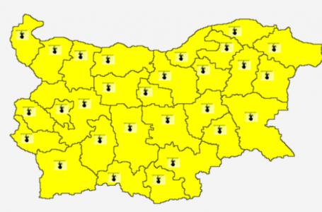 Жълт код за горещини в цялата страна