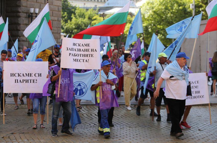 """Протест на работещи в """"Автомагистрали – Черно море"""""""