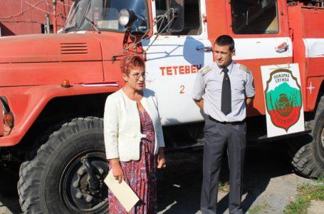 Д-р Мадлена Бояджиева поздрави пожарникарите от РСПБЗН – Тетевен по случай професионалния им празник